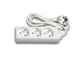 Prodlužovací kabel přívod 1,4m 3 zásuvky 230V
