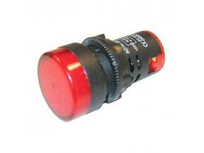 LED kontrolka červená AD16-22DS, 230V/29 mm