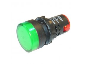 LED kontrolka zelená AD16-22DS, 230V/29 mm