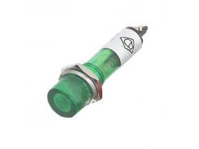 Kontrolka s doutnavkou zelená 12V/7 mm
