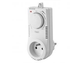 Zásuvkový termostat TS01 analogový