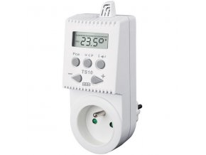 Zásuvkový termostat TS10 digitální