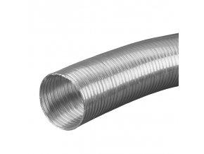 Ventilační potrubí ALU průměr 100 mm/1 m trubka flexi