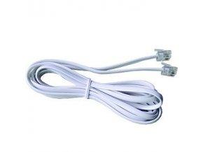 Telefonní prodlužovací kabel  5 m RJ11 propojovací