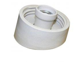 Objímka na světlo, armatura - kopyto - šikmé porcelán IP20