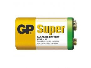 Baterie 6F22 (9V) alkalická GP Super Alkaline 9V