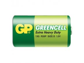 GP baterie R20 /D Greencell velké mono