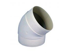 Koleno pro kruhové potrubí 125 mm/45 st. PVC 591p