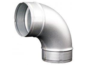 Koleno pro kruhové potrubí 100 mm/90 stupňů, kovové Zn