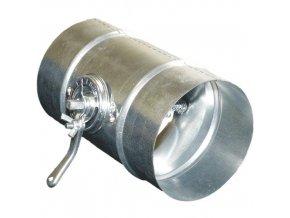 Klapka regulační uzavírací mechanická KKP 125 mm