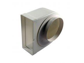 Redukce ohlá z průměru 150 na kanál 220x90/90 PVC 961