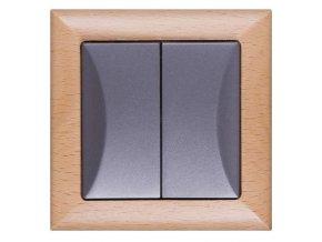 Vypínač Opus č. 5 sériový - lustrový buk-grafit
