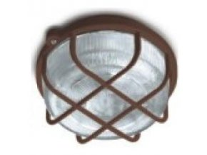 Svítidlo Kruh 100W E27 IP44 SKP-100/H hnědá