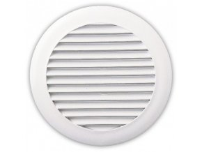 Větrací mřížka kruhová 100 mm KMP 100 bílá