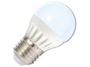 LED žárovka E27/230V 5W LED5W-G45/E27/4100K studená bílá