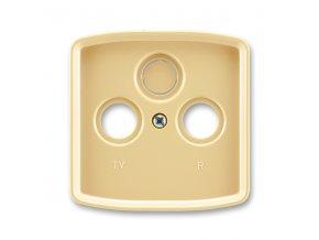 Kryt Tango 5011A-A00300 D zásuvky TV s vylamovacím otvorem