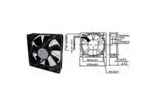 Ventilátor   12V/120x120 x 25 mm 2300 ot/min
