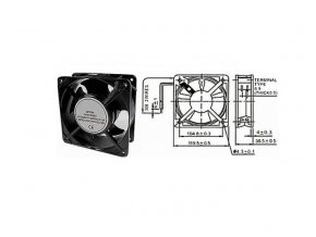 Ventilátor 230V/120x120 x 38 mm