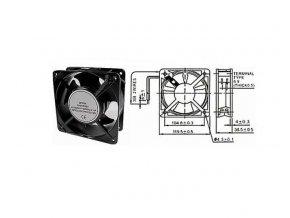 Ventilátor 230V/120x120 x 38 mm 2700 ot/min