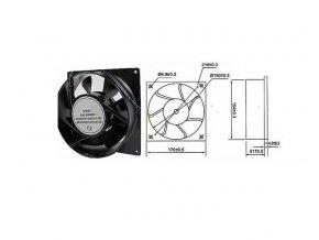 Ventilátor 230V/170x170 x 51 mm 2200 ot/min