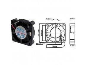 Ventilátor   12V/  40x40 x 10 mm 5000 ot/min
