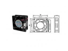 Ventilátor   12V/ 60x60 x 20 mm 4600 ot/min