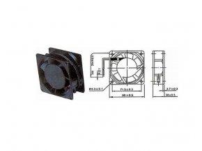 Ventilátor 230V/ 80x80 x 38 mm 2300 ot/min