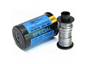 Cín, pájka trubičková 1,0mm 50g 99,3%Sn 0,7%Cu+tavidlo MTL568 - bezolovnatá