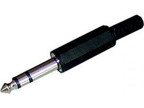 Konektor Jack vidlice 6,3 stereo plast