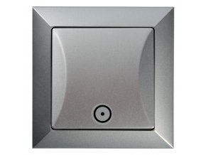 Vypínač Opus č. 1/0 tlačítko, stříbrný