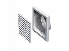 Větrací mřížka plastová 154x154-100 mm MV100Vs bílá