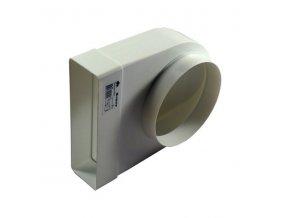 Redukce ohlá z průměru 150 na kanál 204x60/90 PVC 823