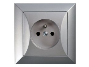 Zásuvka Opus, stříbrná
