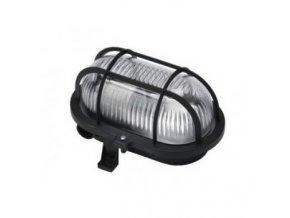 Svítidlo OVAL 60 černá 60W E27 IP54