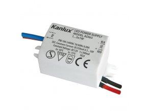 Led trafo proudové 350mA/ 3W Kanlux ADI 350 1-3W