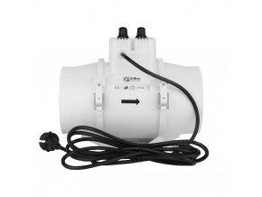 ventilator potrubni axialni s termostatem a regulatorem otacek o 100 mm 381 8