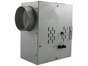 tichy ventilator do potrubi s termostatem regulatorem otacek a izolaci hluku radialni o 200 mm 1243 1