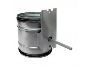zpetna klapka do potrubi uzaviraci pro servopohon o 125 mm 930 1