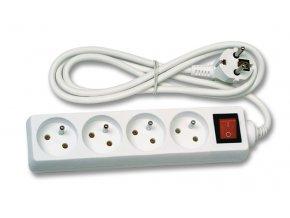 Prodlužovací kabel 3m 4 zásuvky s vypínačem