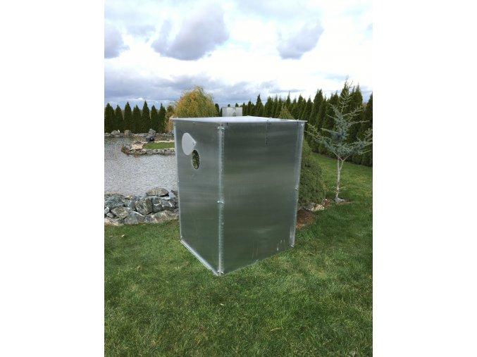Zimní skleník z makrolonu,výška 1,5m, šířka 1m