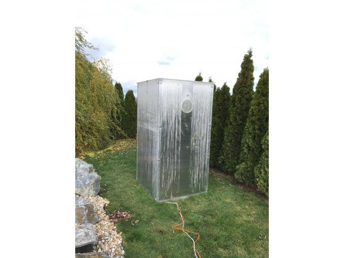 Zimní skleník z makrolonu, 2m výška, 1m šířka.