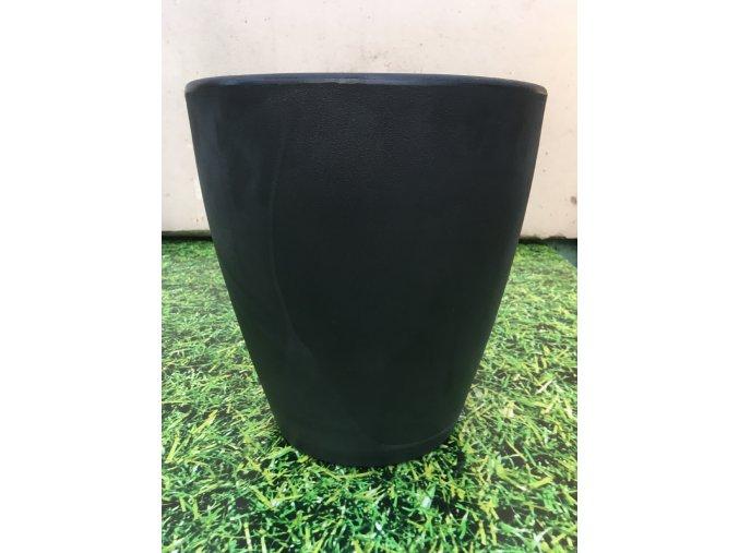 Květináč Violeta 55, lehký plastový květináč, barva černá.