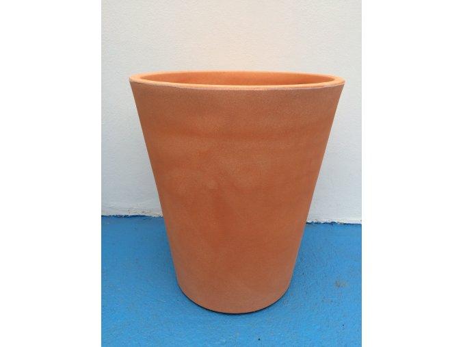 Květináč Gerbera 45, lehký plastový květináč, barva terracota.