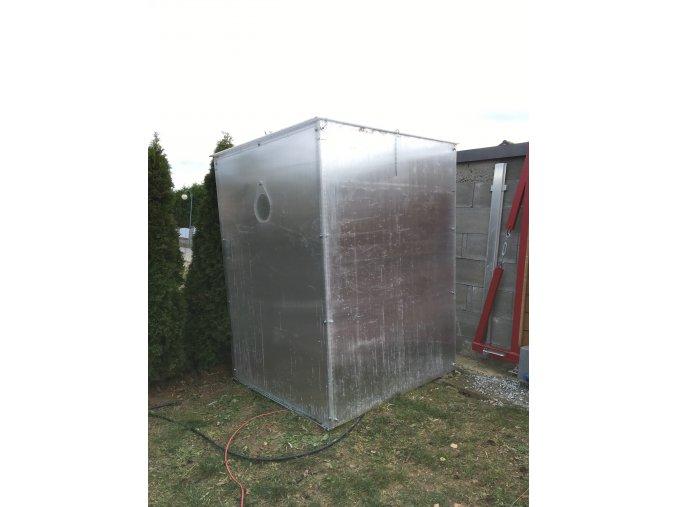 Zimní skleník z makrolonu, 2m výška, 1,5m šířka.