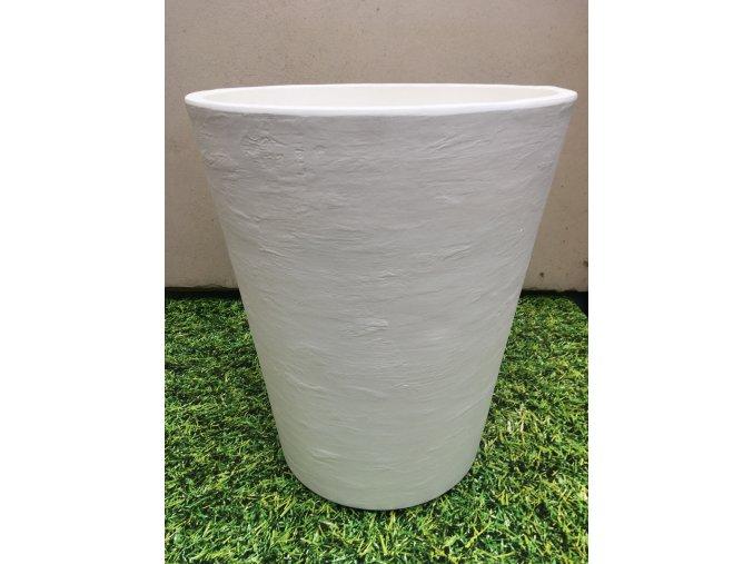 Květináč Gerbera 50, lehký plastový květináč, barva bílá rustico