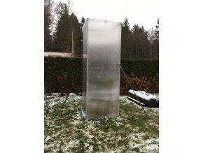 Zimní skleník z makrolonu,výška 2m, šířka 50 cm