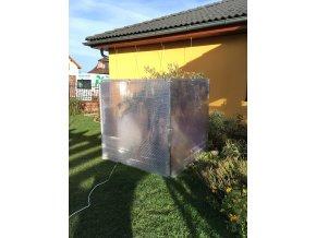 Zimní skleník z makrolonu, 1,5m výška, 1,5m šířka.