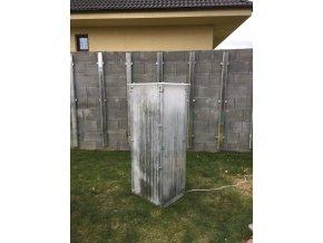 Zimní skleník z makrolonu, výška 1,5m, šířka 50 cm