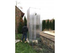 Zimní skleník z makrolonu,výška 3m, šířka 1m