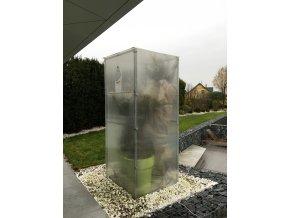 Zimní skleník z makrolonu, 2,5m výška, 1m šířka.
